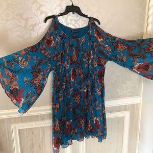 INC NWT xl floral cold shoulder dress gorgeous!
